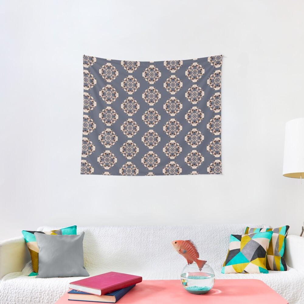 Pug Kaleidoscope Tapestry