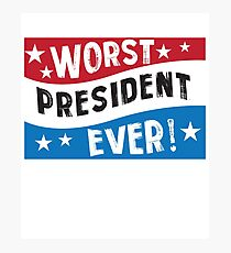 Funny President Blue Red White  Photographic Print