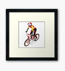 BMX Cyclist Rider Biker Sport Framed Print