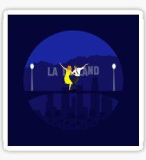 La La Land Minimalist Poster - Ryan Gosling Emma Stone Sticker