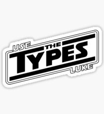 use the types (light) Sticker