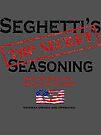 Seghetti's Top Secret Seasoning Merchandise by Fred Seghetti