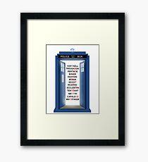 Doctor Who Doctor Names Framed Print