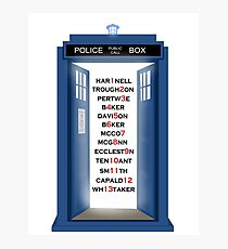 Doctor Who Doctor Names Photographic Print