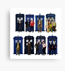 Doctor Who - The 14 Doctors Canvas Print