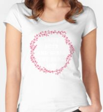 raise both , boys and girls the same way  Women's Fitted Scoop T-Shirt