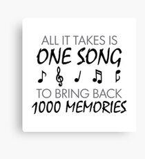 Music Memories Canvas Print