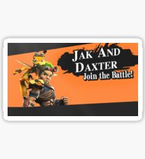 Jak and Daxter Join the Battle! | Super Smash Bros Splash Screen Sticker