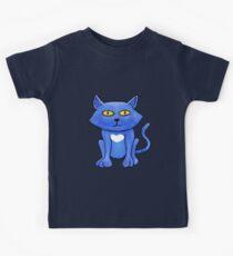Blue Cat (close up) Kids Clothes