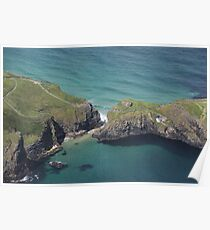 Carrick-a-Rede Rope Bridge From The Air Poster
