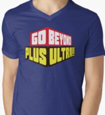 Camiseta para hombre de cuello en v ¡Ir más allá! Plus Ultra!