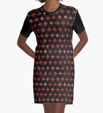 ROYAL1 SCHWARZER MARMOR UND ROTER MARMOR (R) T-Shirt Kleid
