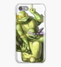 """""""Selfie!"""" Teenage Mutant Ninja Turtles Digitally Colored Pencil Drawing iPhone Case/Skin"""