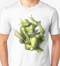 """Selfie!"" Teenage Mutant Ninja Turtles Digitally Colored Pencil Drawing T-Shirt"