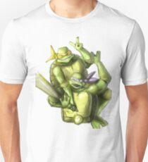 """Selfie!"" Teenage Mutant Ninja Turtles Digitally Colored Pencil Drawing Unisex T-Shirt"