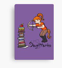 "Sagittarius among the stars - series of T-shirts ""Polaris""  Canvas Print"