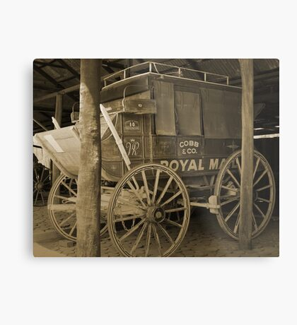 Alte Kutsche Metalldruck