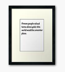 A Merrier Place Framed Print