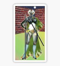 Digital Fantasy Figure Illustration: Cat's Eyes Sticker