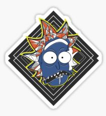 Rick's Geometric Trip - Rick and Morty Sticker