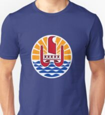 French Polynesia Coat of Arms Unisex T-Shirt