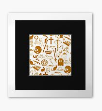 Buffy Symbology - Orange Framed Print