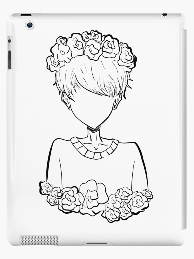 Aesthetic Pastel Tumblr Rose Boy Ipad Cases Skins By
