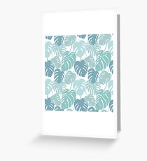 Seamless pattern with tropical monstera leaves Greeting Card