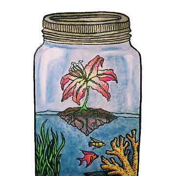 Sparkling Aquarium in a Jar by maryhorohoe