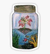 Sparkling Aquarium in a Jar Sticker