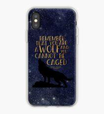 Denken Sie daran, dass Sie ein Wolf sind und Sie nicht eingesperrt werden können iPhone-Hülle & Cover