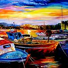 Harbor Sunrising Daniel Wall by Daniel Wall