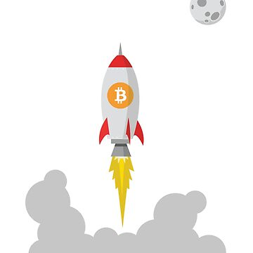 Bitcoin BTC Rocket Spaceship CryptoCurrency  by UrbanLighthouse