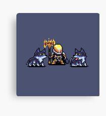 Saladin's Pack Pixel Art Canvas Print