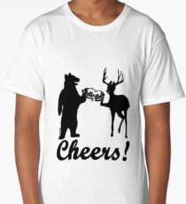 Bear, deer, beer, & cheers Long T-Shirt