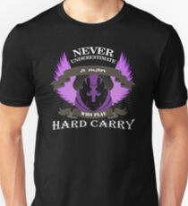 Never Underestimate a Man Who Play Hard Carry Unisex T-Shirt