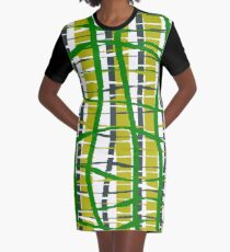 wiggle plaid Graphic T-Shirt Dress
