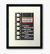 Movie Typography Print Framed Print