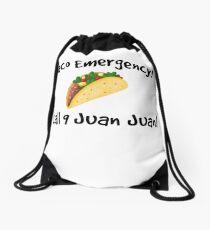Taco emergency! Call 9 juan juan! Drawstring Bag