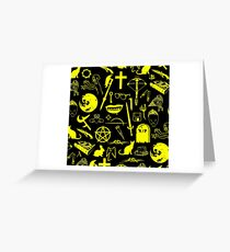Buffy Symbology - Yellow Greeting Card