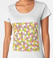 honeycomb pink Women's Premium T-Shirt