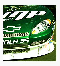 Earnhardt Jr  Close-Up Photographic Print