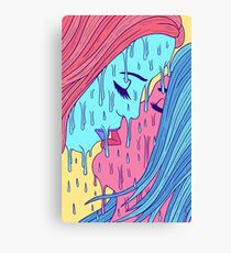 Psychedelic Lovers Canvas Print