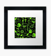 Buffy Symbology - Green Framed Print