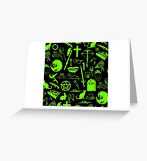 Buffy Symbology - Green Greeting Card
