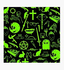 Buffy Symbology - Green Photographic Print