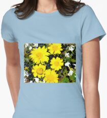 Wildflowers on Glass Beach Womens Fitted T-Shirt