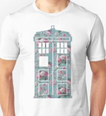 Floral Police Box Unisex T-Shirt