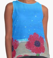 Poppies by the Sea Contrast Tank
