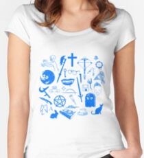 Buffy Symbology - Blue Women's Fitted Scoop T-Shirt